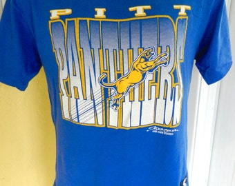 University of Pitt Panthers 1980s vointage t-shirt – blue size XL