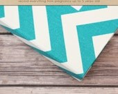 Baby  Book (Pregnancy - 5 Years) - Turquoise Chevron (136 designed journaling pages & personalization included with album)