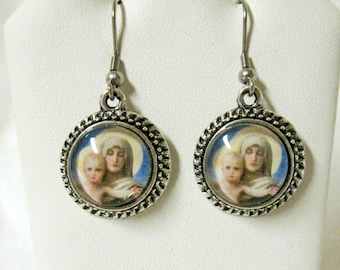 Madonna of the roses earrings - AP07-513