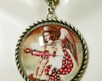 Archangel Uriel pendant and chain - AP25-011 - Cusco style