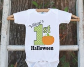 Baby Halloween Outfit - First Halloween Shirt - Halloween Onepiece - Baby's First Halloween With Pumpkin - Baby Boy's My First Halloween Top