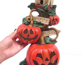 halloween luminaries ceramic luminary ceramic pumpkin halloween decorations pumpkin decor halloween pottery - Ceramic Halloween Decorations