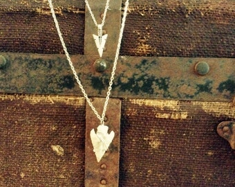 Wild Child Double Arrowhead long necklace