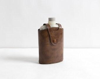 Vintage Flask with Vinyl Case
