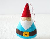 PDF Pattern - Woodland Gnome Felt Sewing Pattern, Winter Holiday Felt Ornament Pattern, Christmas Ornament, Softie Pattern