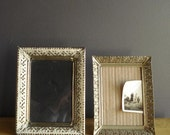 Brass Frame Duo - Set of Two Ornate Vintage Picture Frames