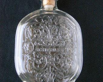 Vintage Schenley Whiskey Bottle with Cork Stopper