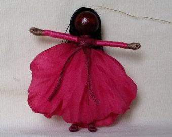 Hot Pink Poppy Waldorf Art Doll