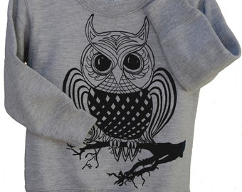 Owl| Children sweatshirt| Toddler & Youth sizes| jumper| Art by MATLEY| Bird| kids and baby apparel| Great gift.