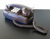 GTE AE Chocolate Brown Push Button Desk or Wall Phone Telephone
