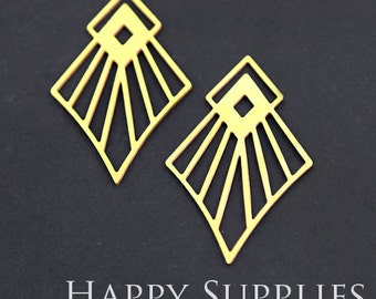 Exclusive - 6pcs Raw Brass Geometry Charm / Pendant, Fit For Necklace, Earring, Brooch (RD235)