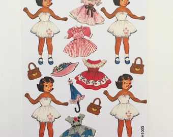Vintage Paper Dolls ~ Going on a Sunday Stroll (FASH1003)
