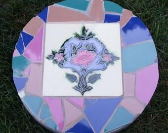 Art Nouveau Tile Mosaic Stepping Stone