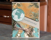 """Handmade World's Best Dad Greeting Card - Stampin' Up Going Global - 5.5"""" x 4.25"""" - Perfect for a Birthday or Father's Day"""