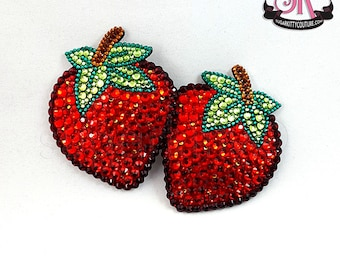 Strawberry Rhinestone Nipple Pasties - SugarKitty Couture