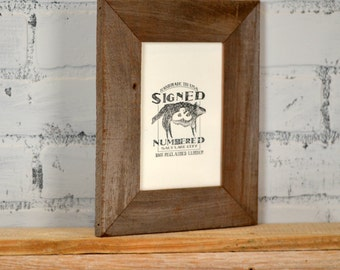 "4x6 Picture Frame in 1.5"" Wide Rustic Natural Reclaimed Cedar - 4 x 6 Upcycled Wood Frame - Handmade Reclaimed Wood Frame 4x6"