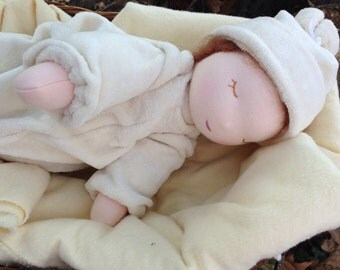 Weighted Waldorf Baby Doll Organic Fleece Tranquil Tot