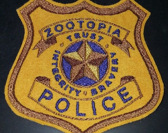 Zootopia Police Department ZPD embroidered canvas cosplay jacket patch - Basic Style