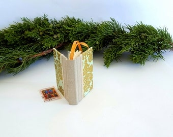 Plaid Christmas Book Ornament Mini Book Lover Ornament Book