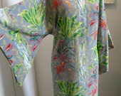 On Hold until May 2nd -XL Alfred Shaheen Surf'n Sand Label Vintage 50's Rayon Pake Muu Hawaiian Dress