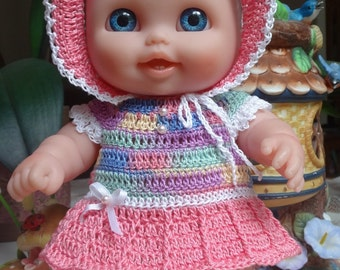 PDF PATTERN Crochet 8.5 inch Lil Cutesies Berenguer Doll Dress Drop Waist Set