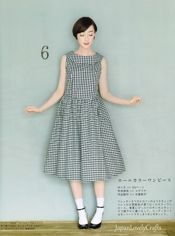 Simple Amp Natural Style One Piece Dress Patterns Japanese