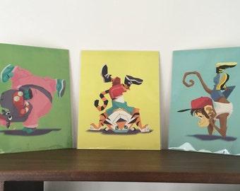 "Animal B-Boys - Set of 3 8x10"" Art Prints"