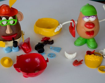 Two Vintage Potato Heads with 30 PLUS Accessories