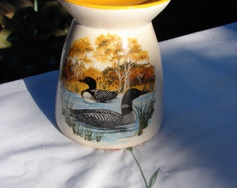 Loons in Autumn Ceramic Tea Light Tart Burner