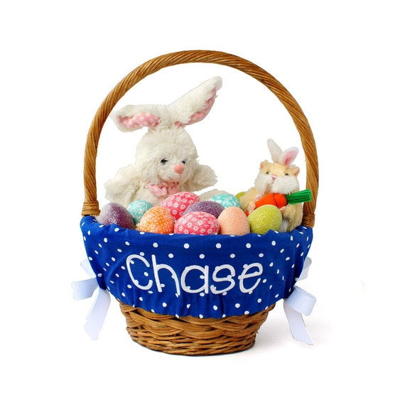 Personalized Easter Basket Liner Royal Blue By Ourlittlemesses