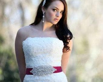 Anastasia Bridal Wedding Dress Rhinestone Beaded Crystal Embellished Belt Sash
