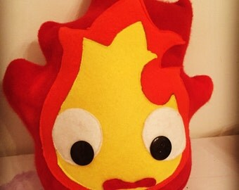 Calcifer Plushie- inspired by Howl's Moving Castle