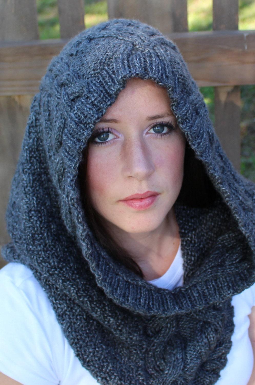 DIGITAL Download Knit hood KNITTING PATTERN Knit cowl knit