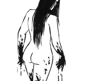 Inktober 2016 No 16 - 5.5 x 7.5 Ink Drawing