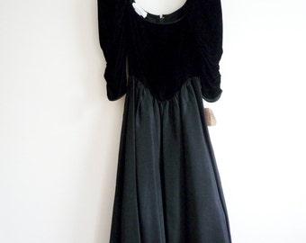 70s Gunne Sax Black Evening Dress, 1970s Saks Fifth Avenue Gown, SALE
