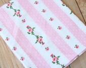 Pink Floral pattern print cotton fabric quarter