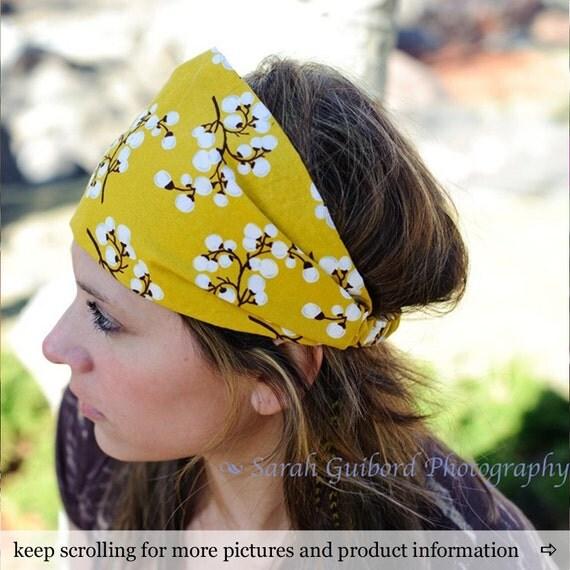 Cotton Headscarves Mustard Boho Bandana Bohemian Hair Scarf Bad Hair Day Headscarf Adult Headband Womens Head Wrap (#4216) S M L X
