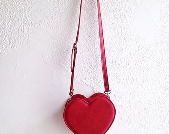 Red Heart Faux Leather Crossbody Bag (Ready to ship)