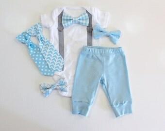 Newborn boy hospital outfit. Newborn Boy Coming Home Outfit. Newborn boy clothing. Baby boy clothes. Newborn gift. Baby Blue Gray