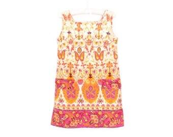 60s Mini Dress * Vintage 1960s Dress * Psychedelic Mini Dress * Medium