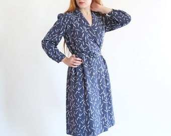 Joy, dark blue vintage dress, Japan, small - medium