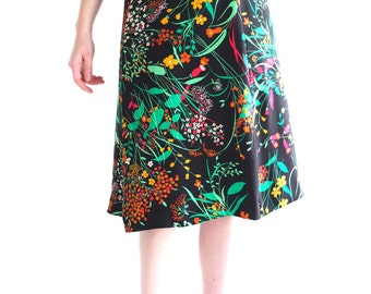 Flower branches, Japanese vintage skirt, xs - small