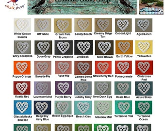 Chalk  Paints -Sample 4 Pack Wood Furniture Paint|Choose any 4 paint colors|4oz|Painted Mason Jars Painted Shabby Chic Frames Chalk Painted