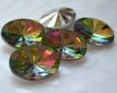 14x10mm vitrail medium rivoli star burst oval glass rhinestone lot of (4) - CF172