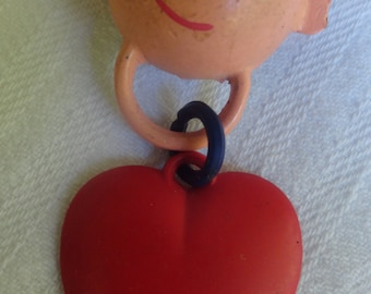 NAVY WIFE Sweetheart Vintage Love a Sailor Celluloid Plastic Brooch