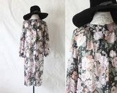 sheer botanic dress / 1970's
