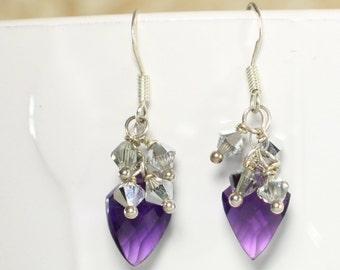 Amethyst Dangle Earrings - Fine Gemstone Jewelry - Fine Jewelry - Amethyst Earrings - Silver Earrings - Gemstone Earrings - Drop Earrings