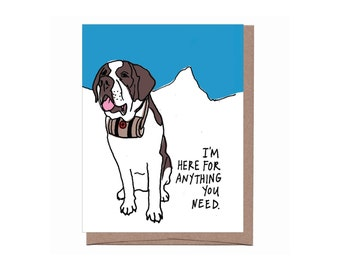 St Bernard Thinking of You Card