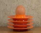 Vintage Egg Cups Holders Rosti Denmark  Orange x 4