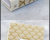 Wedding Planner Book, Wedding Binder Organizer, Gold Fans on Ivory, 3 Ring Binder Style, Size 8x9, {MADE upon ORDER}